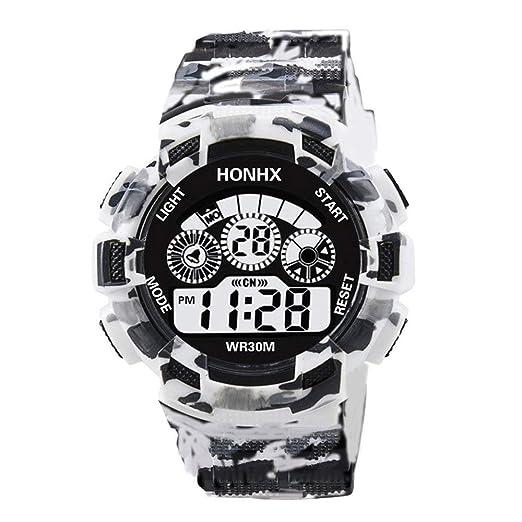 HONHX Electronic Men Watch LED Digital Date Week Alarma Impermeable Militar Shock Watch Moda Reloj Deportivo