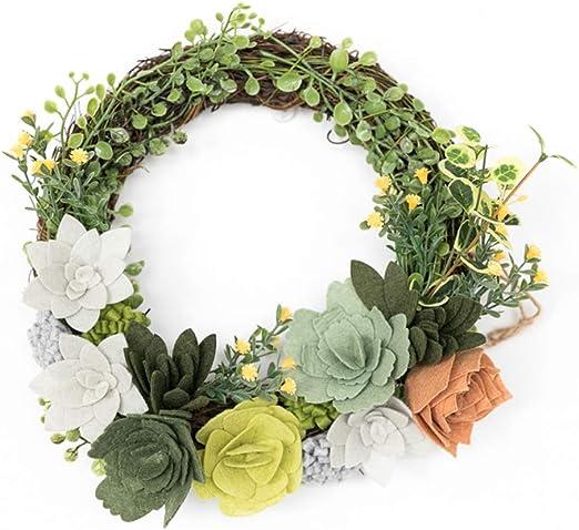 window or wall #7 Handmade artificial flower wicker wreath for door
