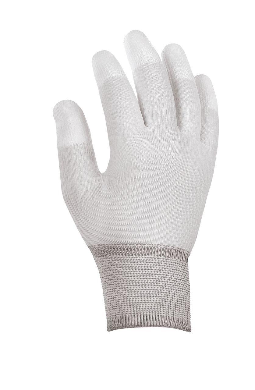 180 Paar - Polyester-Strickhandschuhe Fingerkuppen PU-beschichtet - teXXor® - 2410 - Größe M