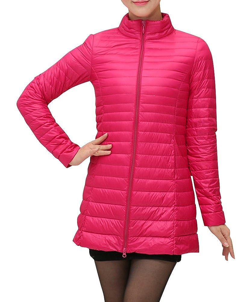 Kasen Giacca da Donna Lunga Piumino di Inverno Ultra Leggero Cappotto Parka Giacche