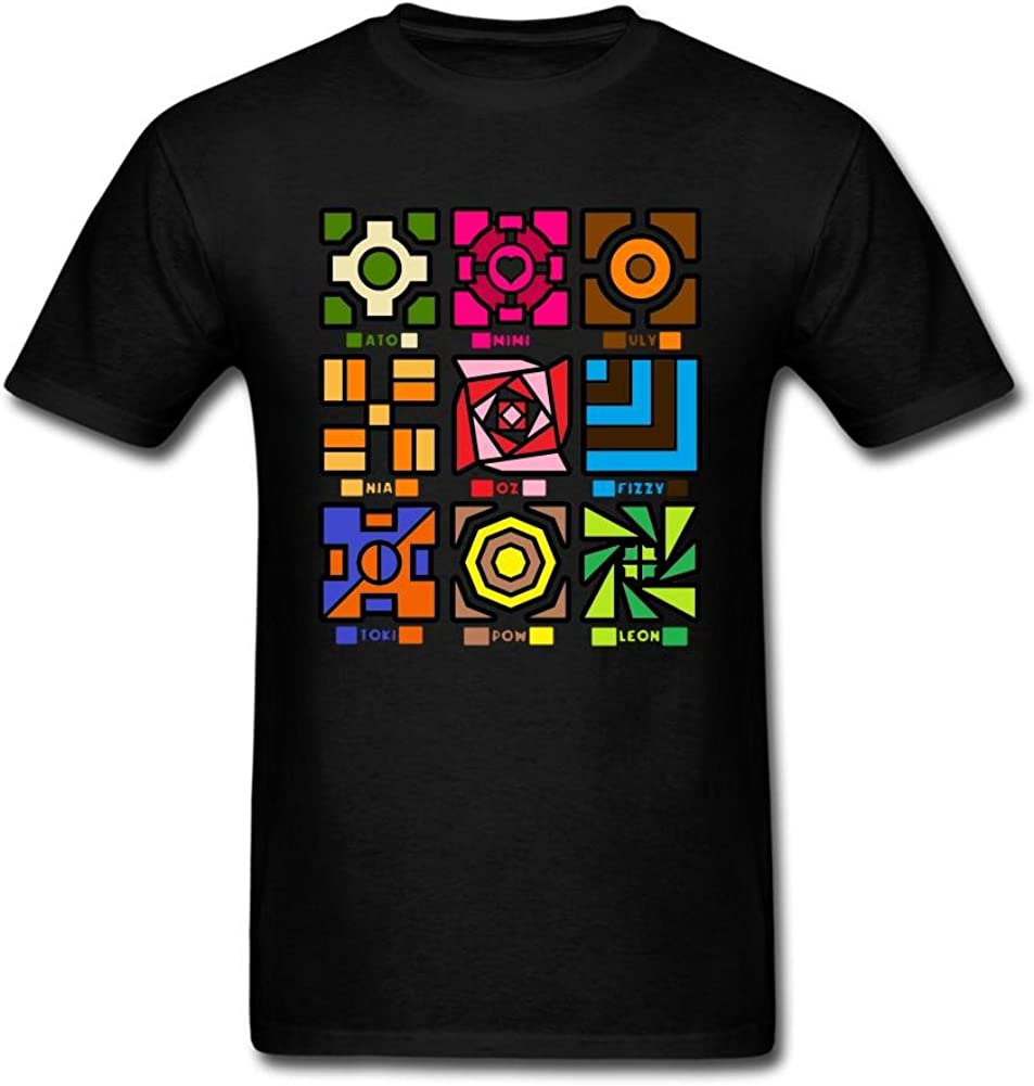 SLJD Men's Gamerverise Canimals Geometry Dash Design T Shirt