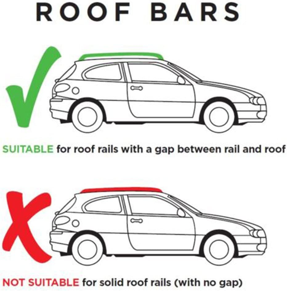 Only Fits Cars With Roof rails Peugeot 307 SW Locking Roof Bars