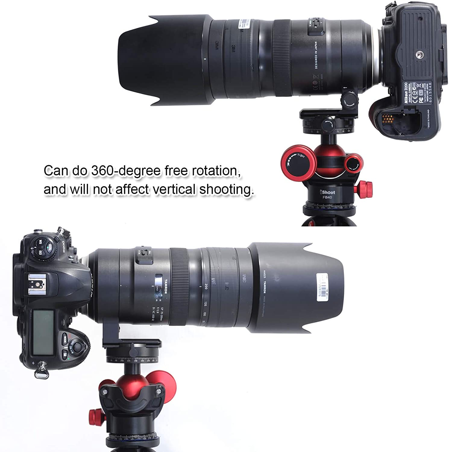 Tripod Mount Ring Compatible with Arca-Swiss Tripod Ball Head for Nikon F, Canon EF Metal Lens Collar with ARCA Quick Release Plate for Tamron SP 70-200mm f//2.8 Di VC USD G2 Telephoto Zoom Lens