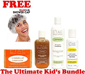 Etae Ultimate Kids Bundle, Kids Shampoo, Carmel Treatment, Conditioner, Hair Gloss (