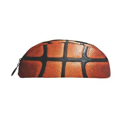BENNIGIRY - Estuche para lápices de baloncesto naranja, gran ...