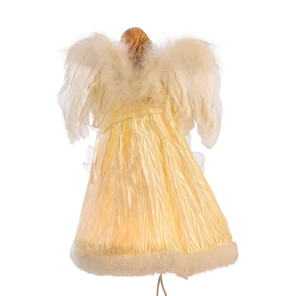 Kurt Adler 10-Light Ivory Angel Treetop 12-Inch