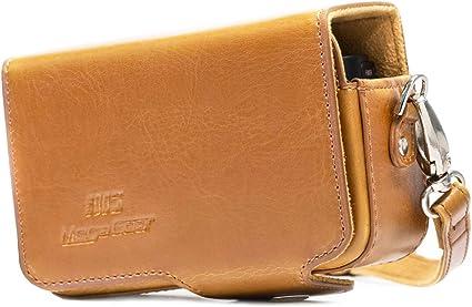 RX100 IV Sony DSC-RX100M III MegaGear Etui en cuir avec boucle de ceinture pour Sony DSC-RX100M V Noir Sony DSC-RX100M II