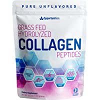 Grass Fed Collagen Peptide Powder - Support Joints, Hair, Skin & Nail Health - 100% Pure, Unflavored & Hydrolyzed - Paleo & Keto Friendly Supplement for Men & Women - Non GMO Gluten Free, 6 oz