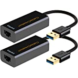 USB 3.0 Gigabit Adapter (2-Pack), CableCreation USB to RJ45 Network Adapter Supporting 10/100/1000 Mbps for Windows, Mac, mac