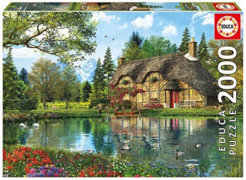 Educa 16774 2000 Lake View Cottage Jigsaw Puzzle by Educa
