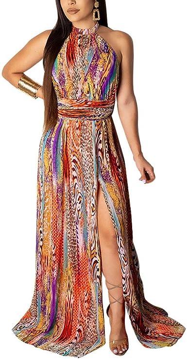 Vestidos Moda Mujer Elegante para Abierta Cuello Espalda Mujer ...