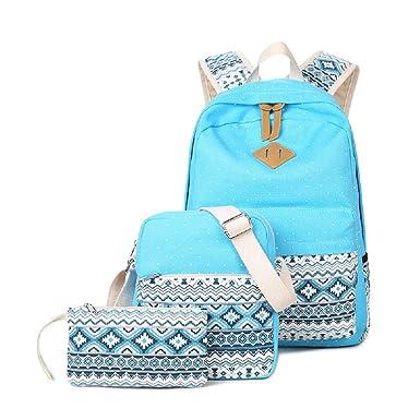 Abshoo – mochila escolar de lona con lunares mochila, linda y ligera, mochilas al hombro: Amazon.es: Electrónica