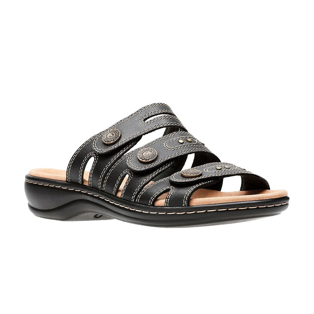 CLARKS Leisa Lakia Women's Sandal B078HZ7PHJ 6.5 W US|Black