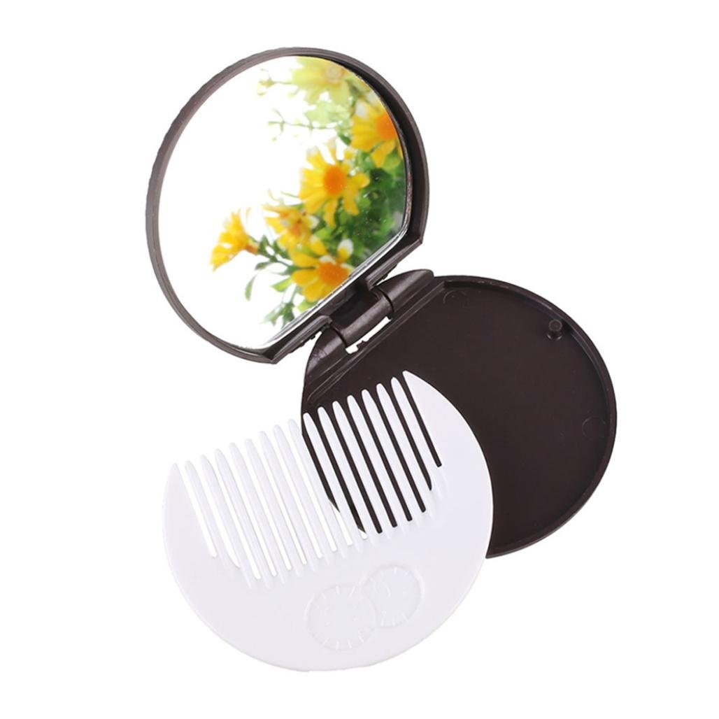 Sujing Pocket Chocolate Cookie Compact Mirror with Comb