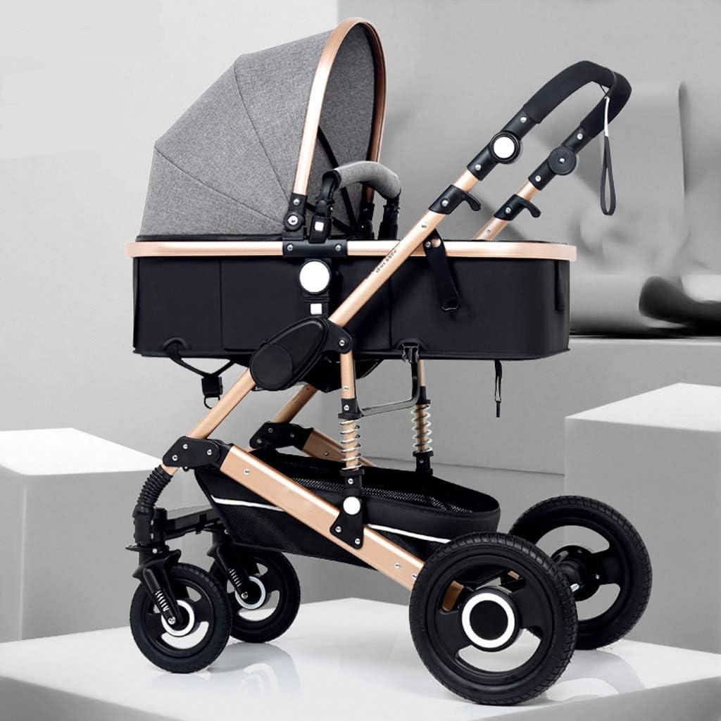 赤ちゃんのためのベビーカー、高い耐衝撃風景ベビーカー、コンバーチブルベビーカーコンパクトシングルベビーカー、大容量の高級ベビーストローラー (Color : A)