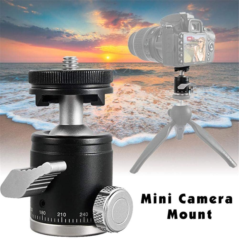 tomoyou K-19 Multifunctional Photography Alloy Ball Head Camera Mini Aluminum Alloy Ball Head for PTZ 1//4 Hot Shoe Mount Adapter for Camera Camcorder
