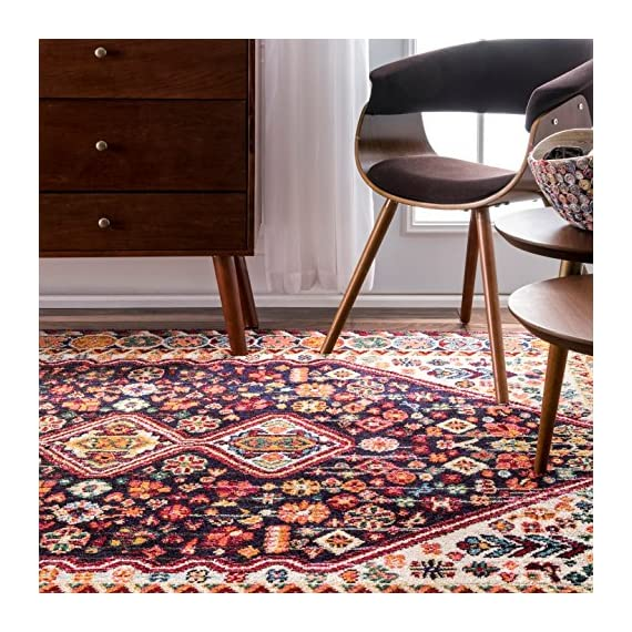 "nuLOOM Meadow Vintage Vibrant Runner Rug, 2' 6"" x 8', Black - Origin: Turkey Weave: machine made Material: 100% polypropylene - runner-rugs, entryway-furniture-decor, entryway-laundry-room - 61kTRoPIUXL. SS570  -"