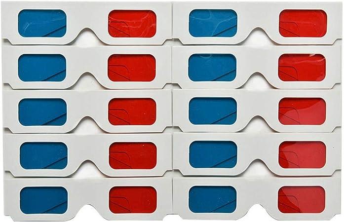 10 gafas 3D rojo azul cian tarjeta de papel 3d Anaglifo gafas