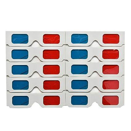 715391dbf7 F-blue Anaglifo de Papel Universal Gafas 3D Rojo Azul Cartón Juego de la  película