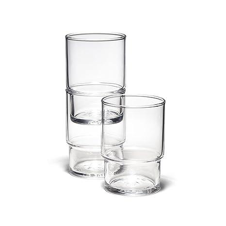 Amazon.com: Toyo Sasaki HS vaso de vidrio apilable: Kitchen ...