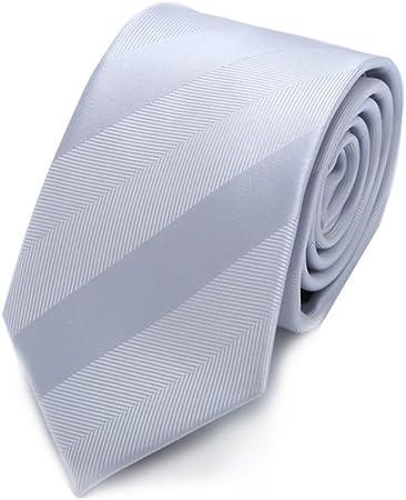 Sumferkyh Corbata de Rayas Corbata de Seda Blanca Plateada de Seda ...