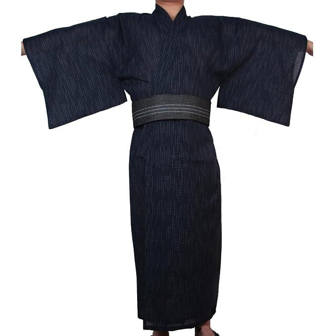 Fancy Pumpkin Kimono japonés de Yukata japonés para Hombre Vestido de Pijama japonés para el tocador