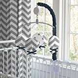Carousel Designs Navy and Gray Elephants Mobile