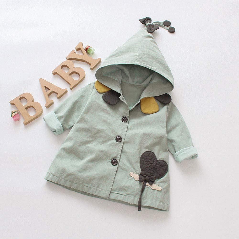 Memela Baby Clothes,Toddler Baby Girls Outerwear Jacket Cartoon Windbreaker Hooeded Coat Clothes
