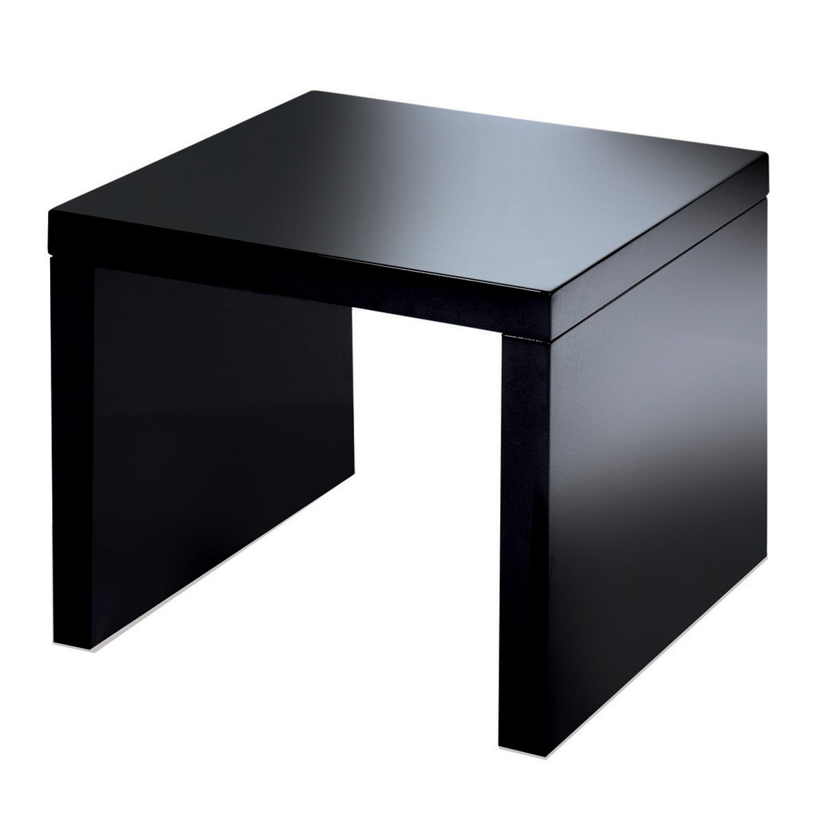 Side table in black high gloss amazon kitchen home mozeypictures Gallery
