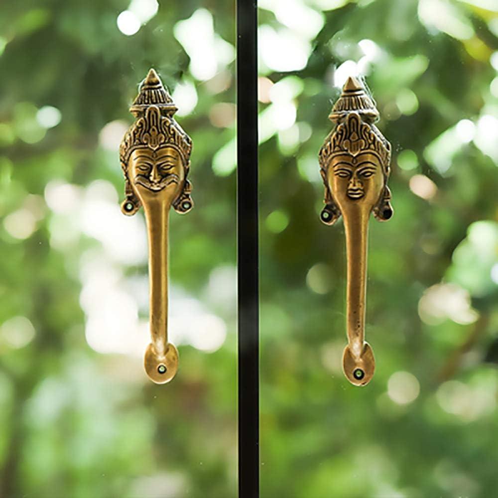 Xuanbao Klassische Griffe im Chinesischen Stil Southeast Asian Indian handgemachte Reine Kupfer T/ürgriff Farbe : Brass-1, Gr/ö/ße : 21.5/×5/×3.5cm