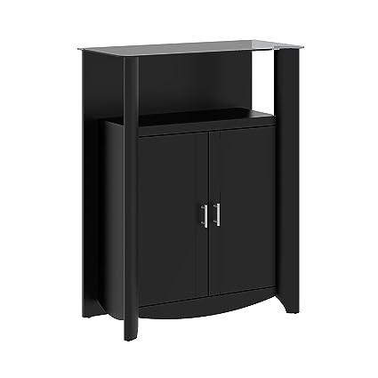 Bush Furniture Aero Library Storage Cabinet with Doors  sc 1 st  Amazon.com & Amazon.com: Bush Furniture Aero Library Storage Cabinet with Doors ...