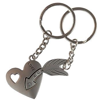 Romántico clave para mi corazón par llavero amor llavero ...