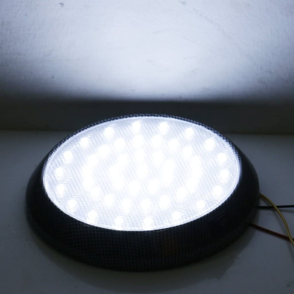 balikha 2Pcs Round DC 12V 46 LED Dome Ceiling Light For Car Motorhome Boat Universal