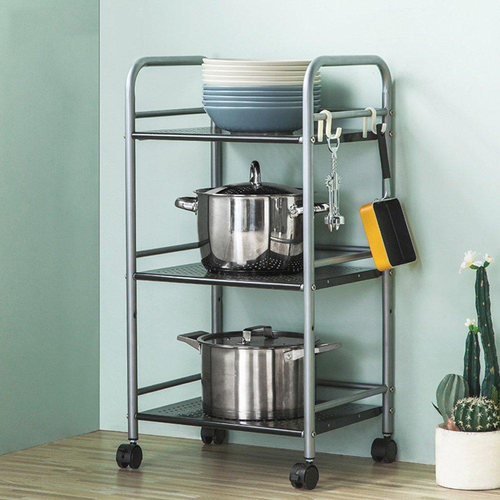 HWF Estantes y soportes para ollas y sartenes Estante de almacenamiento de la unidad de la cocina del estante del horno de la microonda de 3 niveles ...