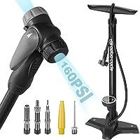 Optio Cycle Luchtpomp voor alle ventielen, fietspomp, staande pomp voor fiets, met grote manometer tot 11 bar/160 psi…