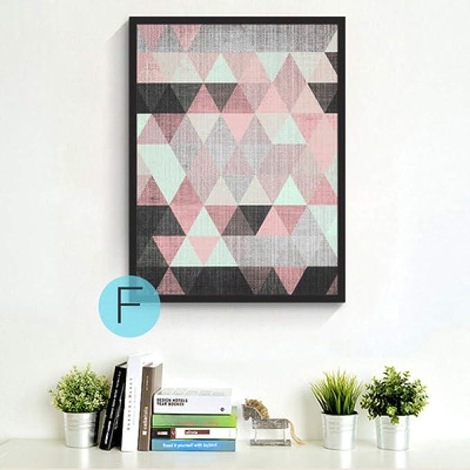 baodanla (sin Marco) Pintura al óleo geométrica Abstracta ...