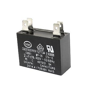 CBB61 AC450V 2uF 4 Terminal del acondicionador de aire del ...