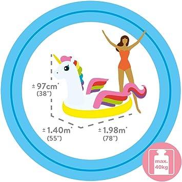 Intex 57561NP - Unicornio hinchable tamaño mediano 198x140x97 cm ...