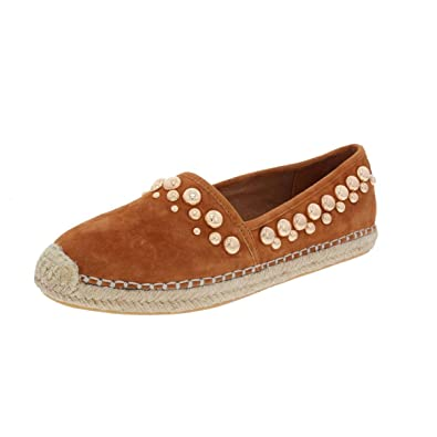 B Brian Atwood Studded Round-Toe Espadrilles cheap from china Inexpensive online SbZNXL9