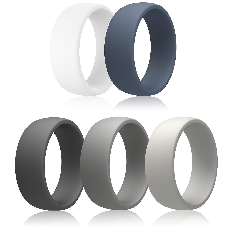 IBBM I WILL black, grey BE YOUR BEST light メモリーシリコンリング メンズ ウェディングバンド スポーツ&アウトドア用 5個パック 幅8.7ミリ B07HJDRSQW white, black, blue, dark grey light grey 8.5 - 9 (18.9mm) 8.5 - 9 (18.9mm)|white, black, blue, dark grey light grey, ハナワマチ:f6f9ed79 --- harrow-unison.org.uk