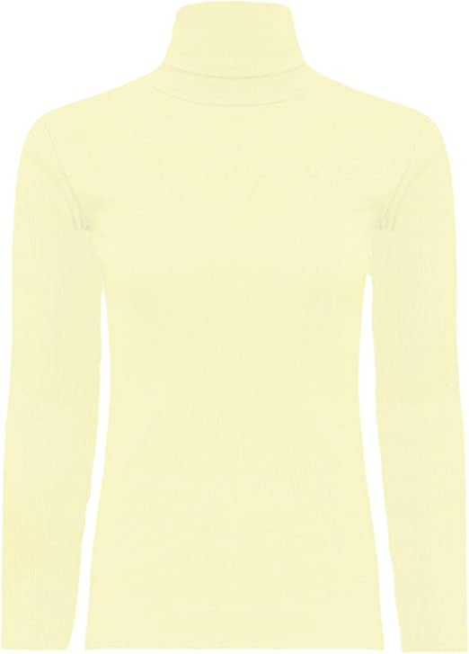 Kids Turtleneck Long Sleeve Plain Basic Top Girls Boys Jersey Polo Tops 2-14 Yr