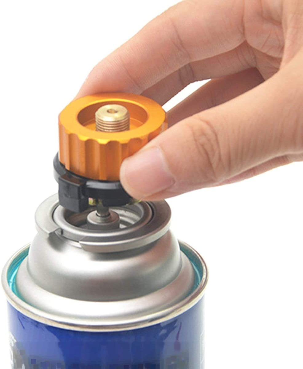 Gugutogo Gas Refill Adapter Outdoor Camping Stove Cylinder Burner Inflate Valve Canister Self-Closing Function