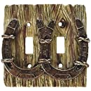 Cool Cowboy Horseshoe 3-d Double Light Switch Cover