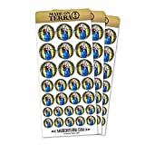 Stained Glass Virgin Mary and Jesus Madonna Removable Matte Sticker Sheets Set