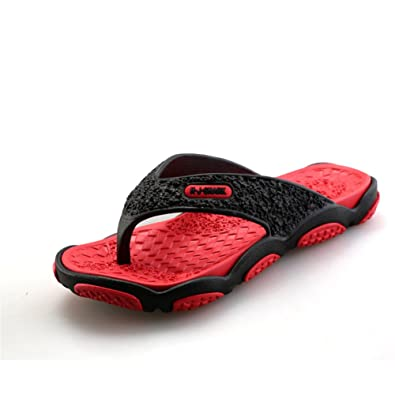 8b58489e6 SGoodshoes Men s Slip On Slipper Thong Flip Flop Sandals Comfortable Shower  Beach Shoe Bi-layered Sole  Amazon.co.uk  Shoes   Bags