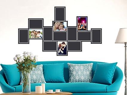 GRAZDesign Wandaufkleber Wanddeko Bilderrahmen für 14 Fotos ...