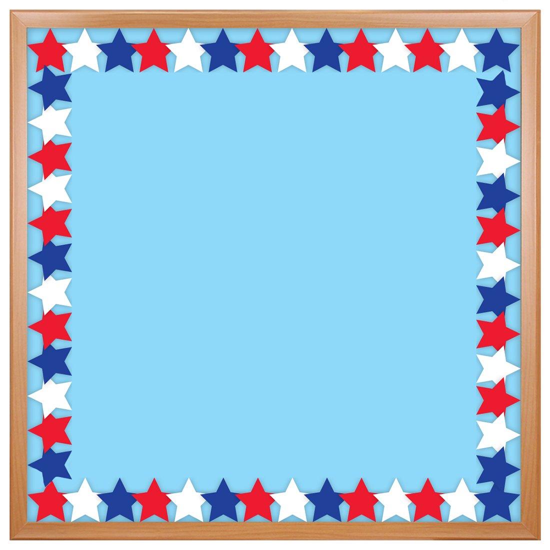 Amazon Com Hygloss Products Patriotic Star Die Cut Bulletin Board