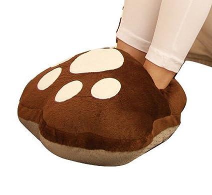 EUBUY Bear Paw, Zapatillas de Invierno con USB para Calentar ...