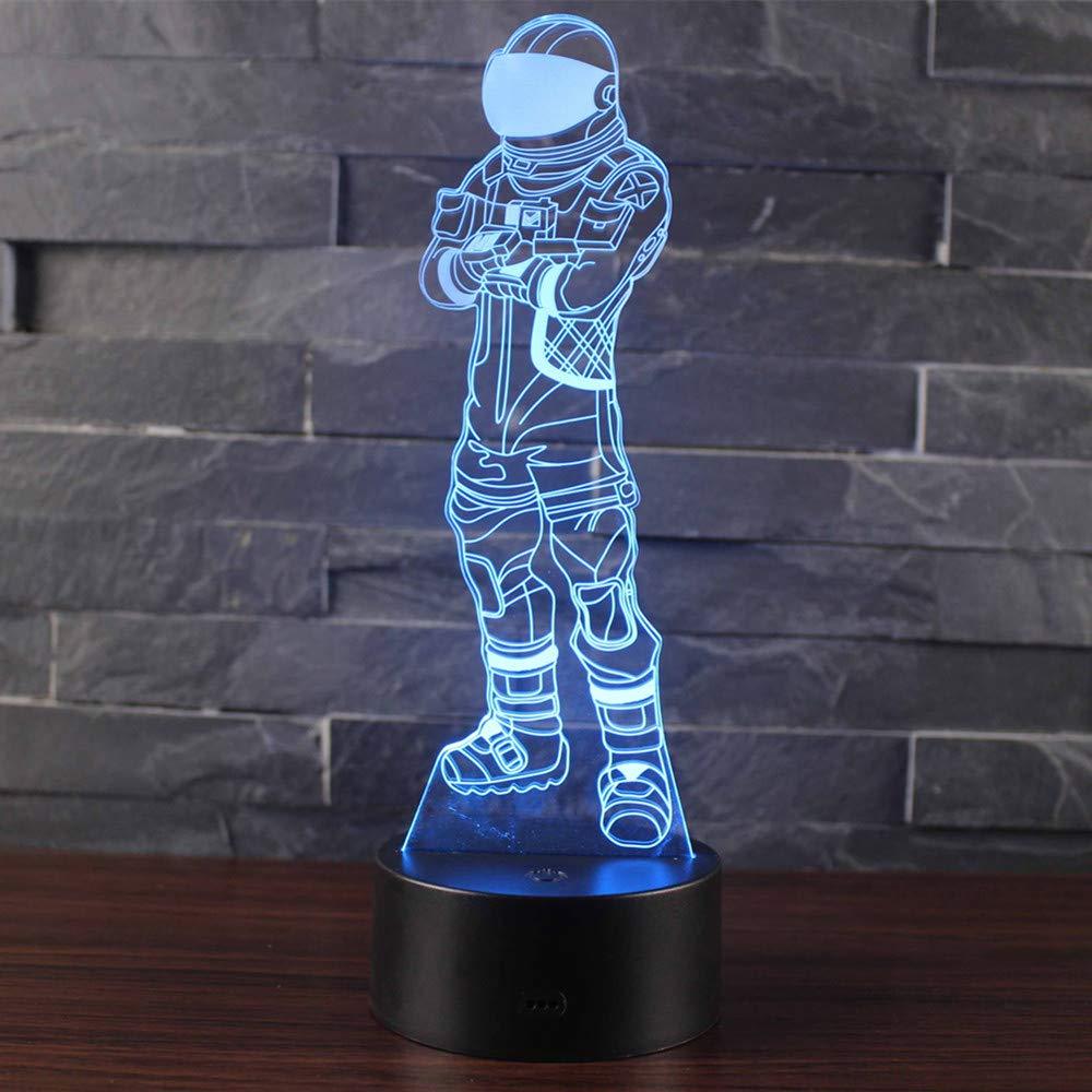 A9 Leisu 3D LED Lampe Illusions Optiques Veilleuse Lampe 7 Couleurs Tactile Lampe Bureau D/écor pour Chambre Chevet Table enfants Cadeau No/ël F/ête Anniversaire