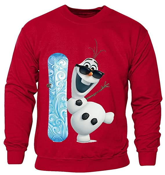 New para niños niños niñas Frozen Disney Olaf Snowboard Navidad sudadera jerséis 2 - 14 años: Amazon.es: Ropa y accesorios